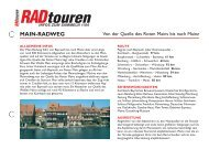 Radreise Mainradweg - Radtouren Magazin