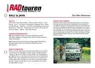 Radreise Bali und Java - Radtouren Magazin