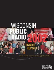 2002 Annual Report - Wisconsin Public Radio
