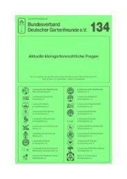 134 - Bundesverband Deutscher Gartenfreunde e. V.