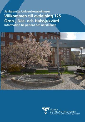 Hej och välkommen! (pdf) - Sahlgrenska Universitetssjukhuset