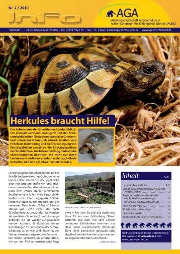 Rundschreiben 2/2010 - Aktionsgemeinschaft Artenschutz e.V.