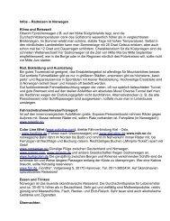 Infos – Radreisen in Norwegen - Radtouren Magazin