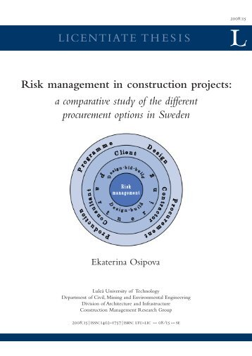 Risk management in construction projects: a ... - Pure 4 - Login
