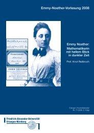 Emmy Noether - Friedrich-Alexander-Universität Erlangen-Nürnberg