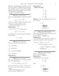 Answer, Key – Homework 3 – David McIntyre 1 This - Physics at ...