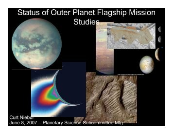 Status of Outer Planet Flagship Mission Studies - Lunar and ...