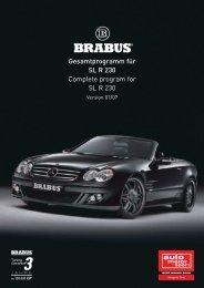 PDF Katalog von Gesamtprogramm für SL R 230 - Brabus