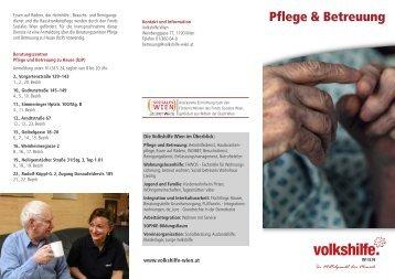 Pflege & Betreuung - bei der Volkshilfe Wien