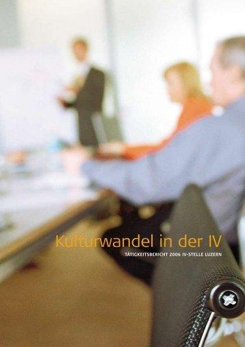 Jahresbericht 2006 - IV-Stelle Luzern