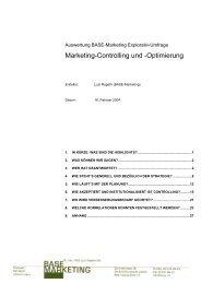 Ergebnisse der Explorativ-Umfrage zu Marketing ... - Base-Marketing