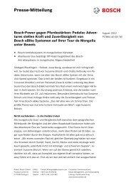 Pedelec Adventures stellen Kraft - Bosch