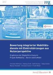 Bewertung integrierter Mobilitäts- dienste mit ... - InnoZ