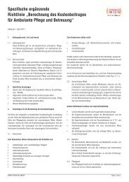 Spezifische ergänzende Richtlinie - Fonds Soziales Wien