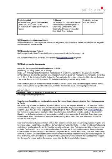 17. Protokoll 15.02.2012 - BARMBEK-NORD.info