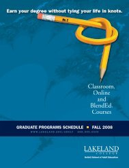 Classroom, Online and BlendEd® Courses - Lakeland College