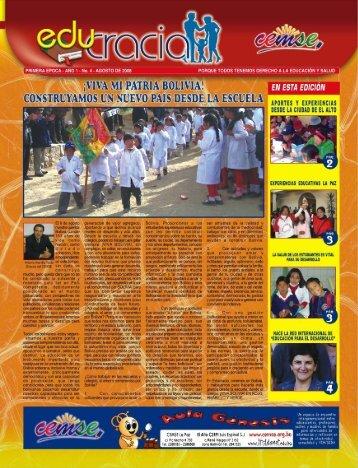 El 6 de agosto nuestra querida Bolivia, cumple Nación ... - CEMSE
