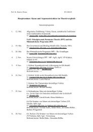 Hauptseminar: Kasus und Argumentstruktur im ... - UK-Online