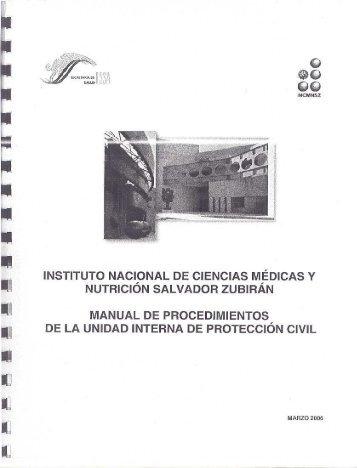 manual de procedimientos de la unidad interna de - Instituto ...