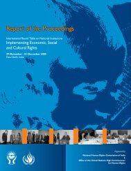 Report of the Proceedings - National Human Rights Commission