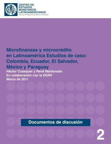 Microfinanzas y microcrédito en Latinoamérica Estudios de caso ...