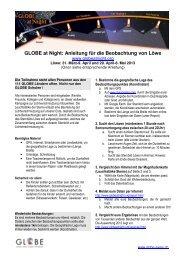 Beobachtungsanleitung Löwe - GLOBE