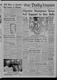 August 29 - The Daily Iowan Historic Newspapers