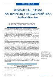 Meningite bacteriana pós-traumática em idade pediátrica