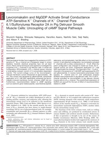 B - Journal of Pharmacology and Experimental Therapeutics ...