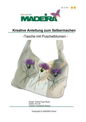 Kreative Anleitung zum Selbermachen -Tasche mit ... - Madeira Garne