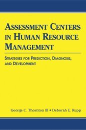 Assessment Centers in Human Resource Management : Strategies ...