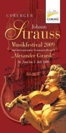 Coburger Johann Strauss Musikfestival 2009 - arts Ralph Braun