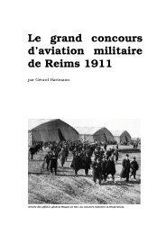 Le grand concours d'aviation militaire de Reims 1911