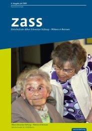 Zeitschrift der Albert Schweitzer Stiftung – Wohnen & Betreuen