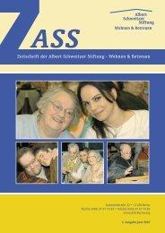 Zeitschrift der Albert Schweitzer Stiftung - Wohnen & Betreuen