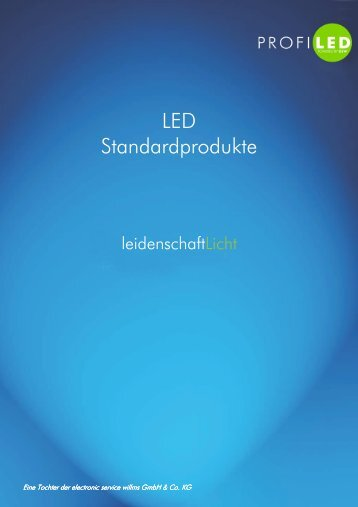 Katalog LED-Standardprodukte - profiled