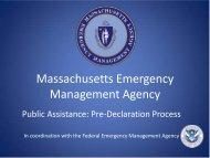 Public Assistance - Pre-Declaration - Gina Valentine - Mass.Gov