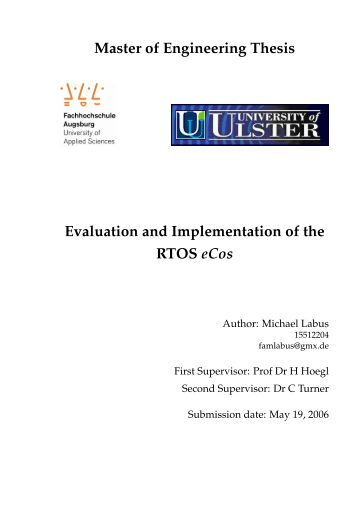 Master thesis evaluation