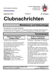 September - SAC Sektion Grenchen