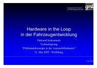Hardware in the Loop in der Fahrzeugentwicklung