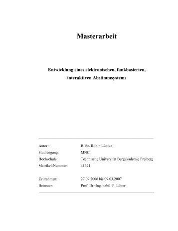 Masterarbeit - Robin Lüdtke
