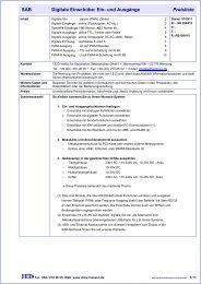 Einschübe Digitale IOs - I.E.D Institut für Explorative Datenanalyse ...