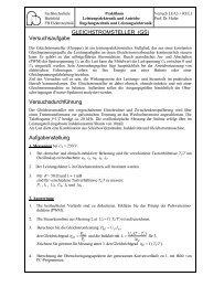 GLEICHSTROMSTELLER - Fachhochschule Bielefeld