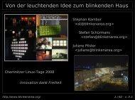 Von der leuchtenden Idee zum blinkenden Haus - Chemnitzer Linux ...