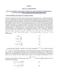 Modul 2 Plane wave method (PWM) crystal band diagrams http ...