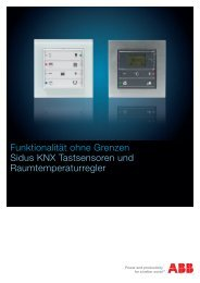 Produkteinformation Tastsensor Sidus KNX - ABB Schweiz AG ...
