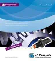 Sensoren für Getriebeapplikationen - Acte Supply
