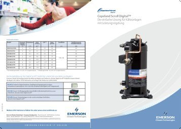 Copeland Scroll Digital™ - Emerson Climate Technologies