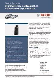 Datenblatt Glühzeitsteuergerät GCU4 - Bosch - Kraftfahrzeugtechnik