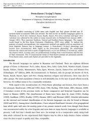 Proto-Karen - Journal of the Southeast Asian Linguistics Society